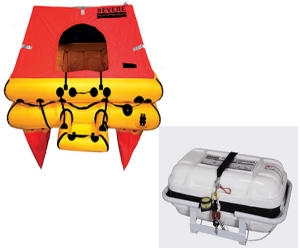 Revere Offshore Elite 4 Person Life Raft, Canister (No Cradle Included)
